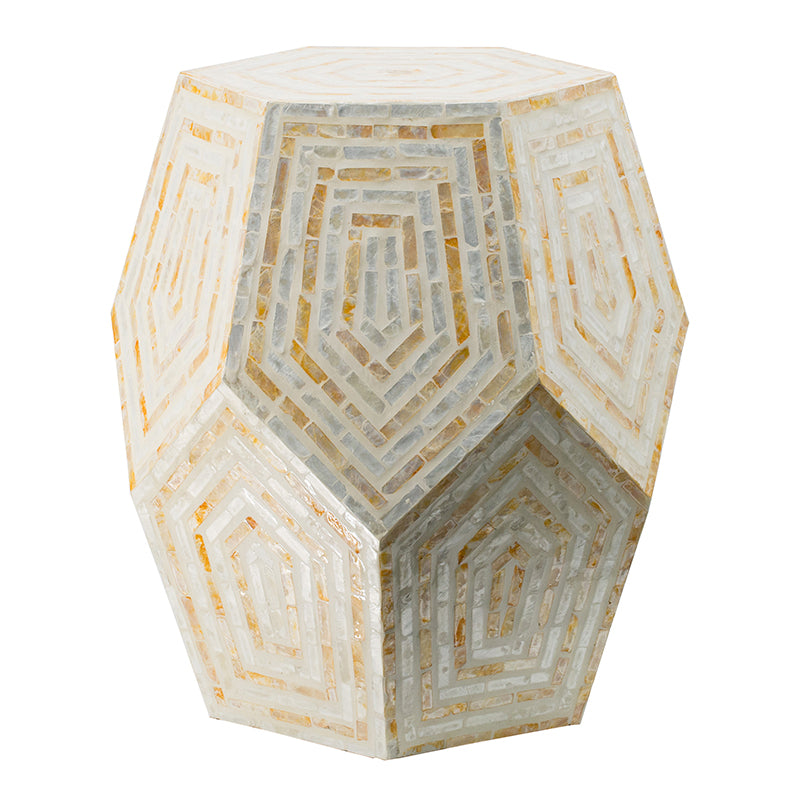 Hexagonal Capiz Stool