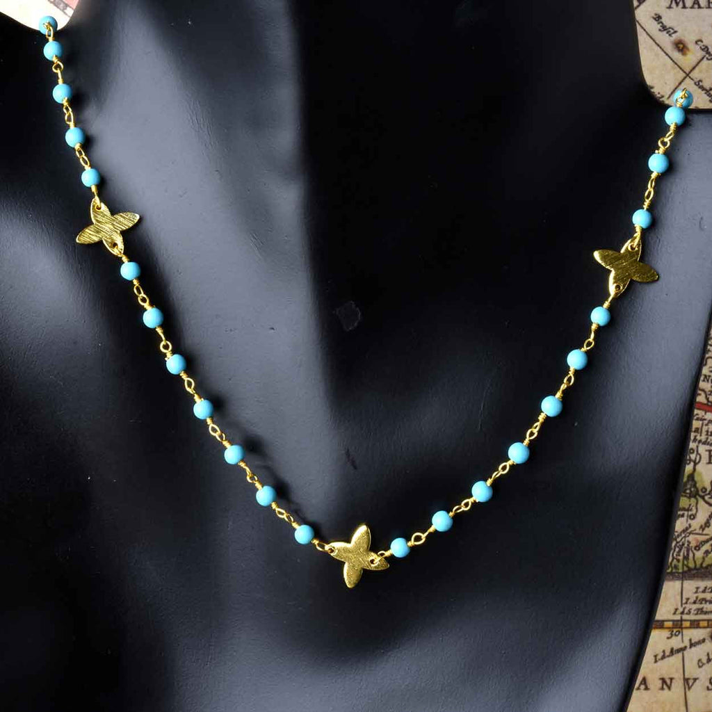 Summer Days Turquoise or Pearl Necklace