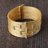 12 Row Woven Shimmer Cuff