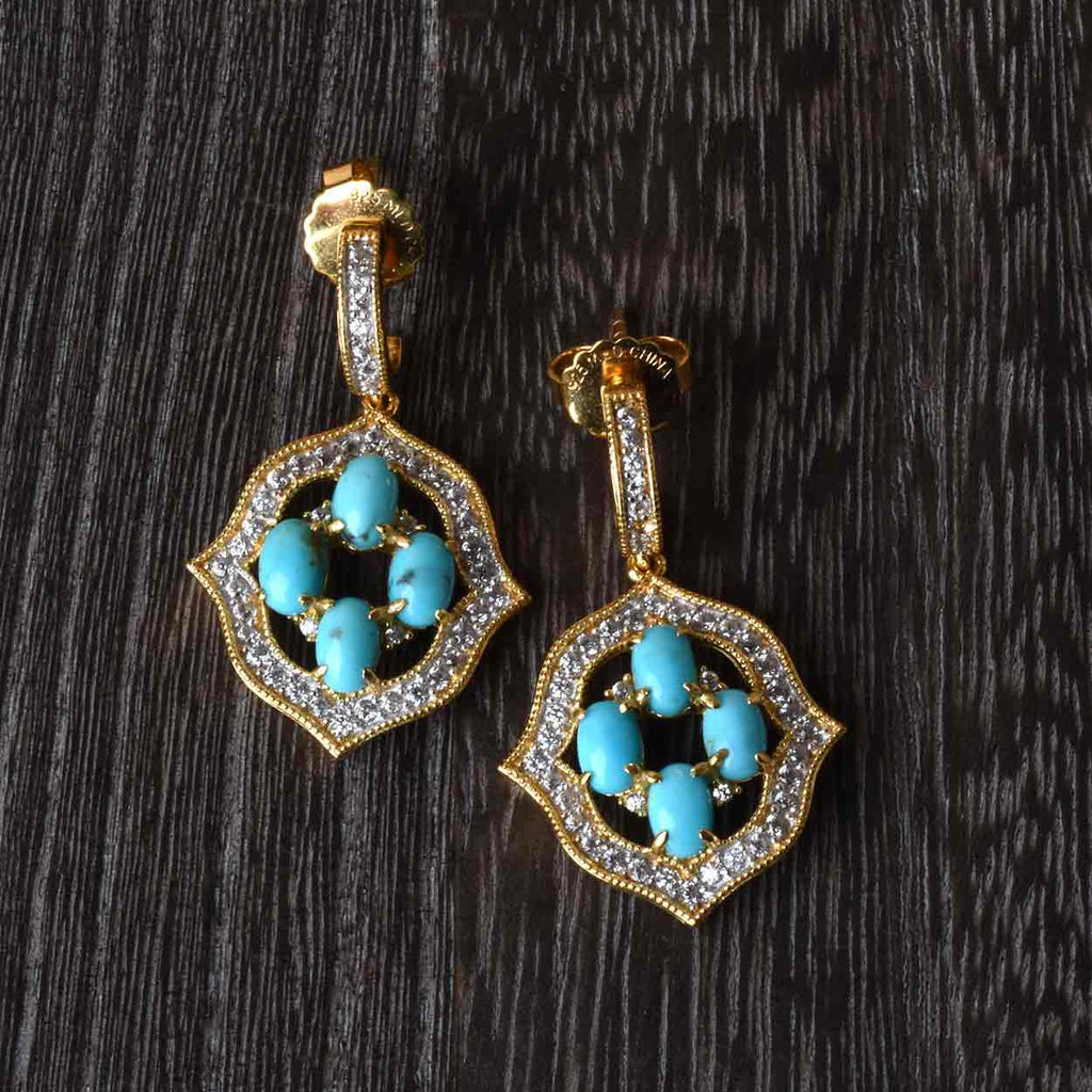 Sterling and Turquoise Drop Earrings