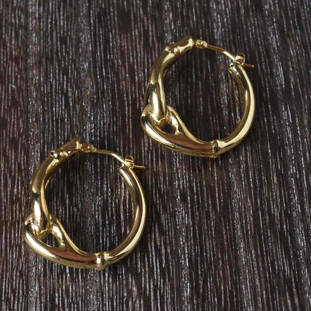 Updated Equestrian Inspired Hoop Earrings