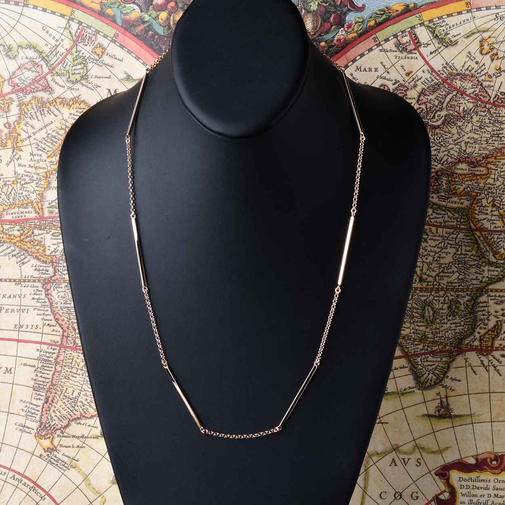 Italian Bar Station Necklace
