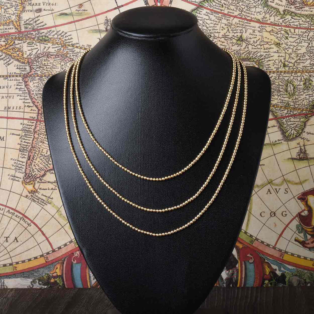 The Italian Faceted Bead Necklace