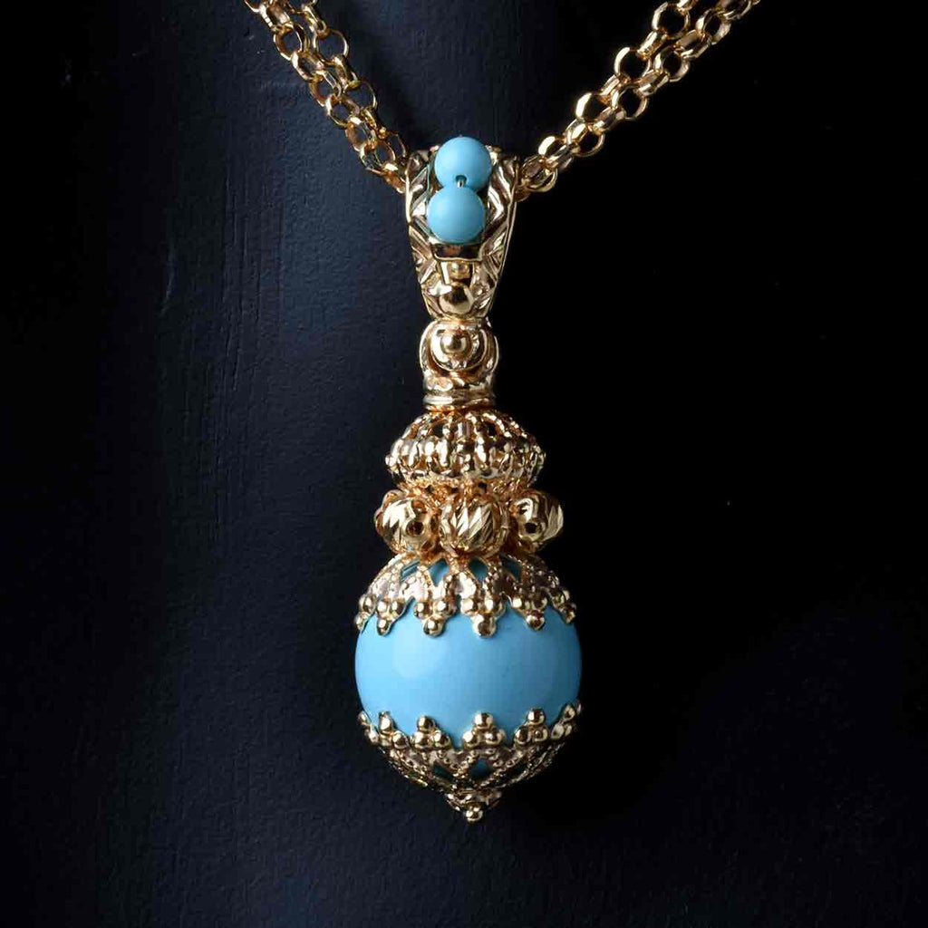Shops of Florence Drop Pendant and Chain