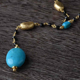 Turquoise and Black Spinel Necklace