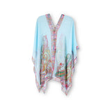 Sheer Blue Summer Poncho/Cover Up