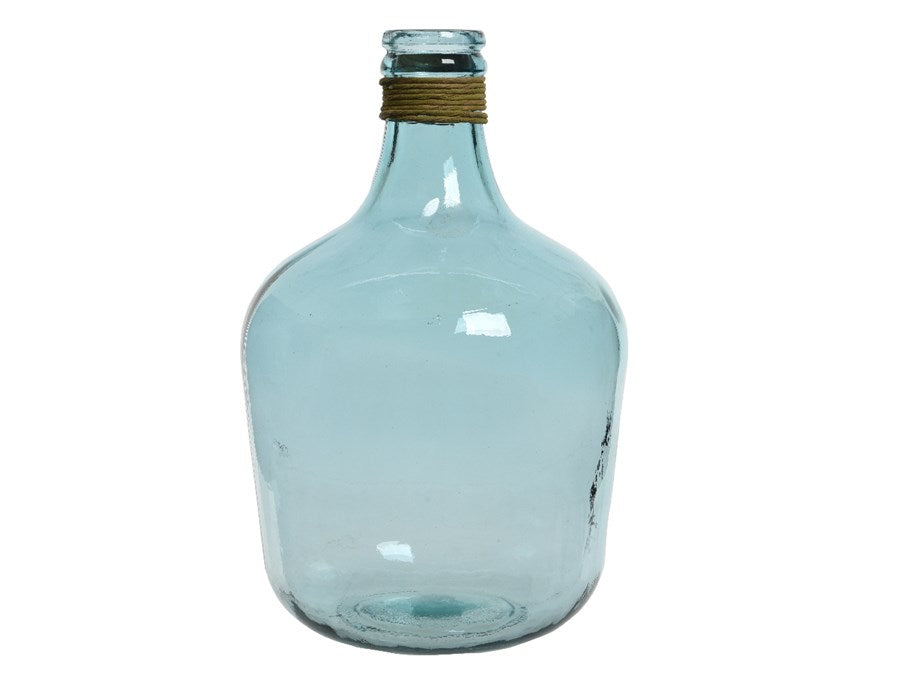 Grand Blue Recycled Glass Vase
