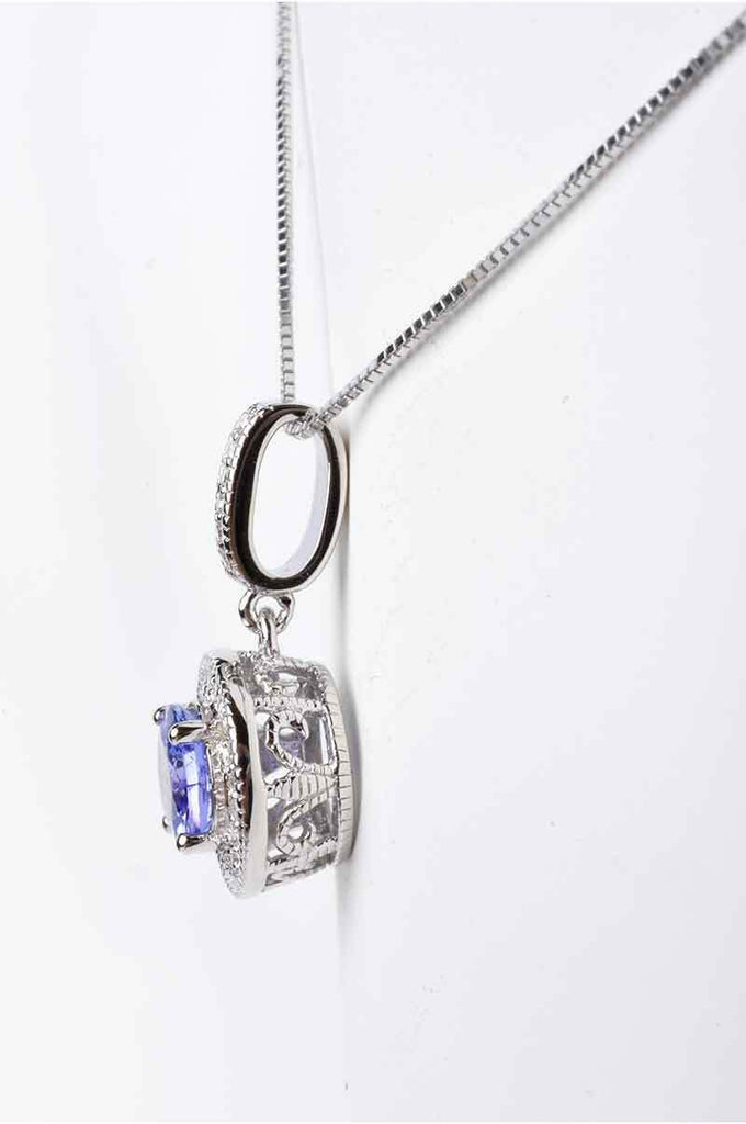 The Exotic Tanzanite and Diamond Pendant