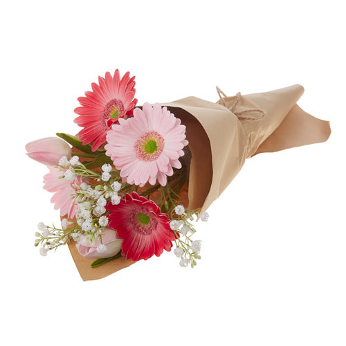"Set of 2 - 19.5"" Daisy Bouquet Wrapped In Paper"