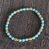 Italian Gemstone And Bead Stretch Bracelet