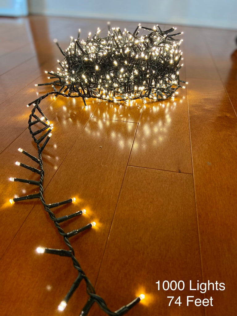 Plug In LED White Twinkle Lights