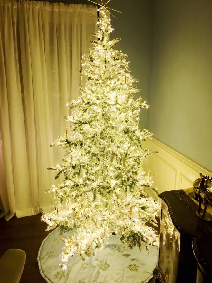 "The ""Stars in the Sky"" Pre-Lit Christmas Tree with White Lights"