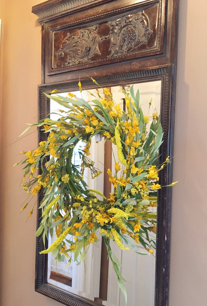 Yellow Ginger Flower Wreath