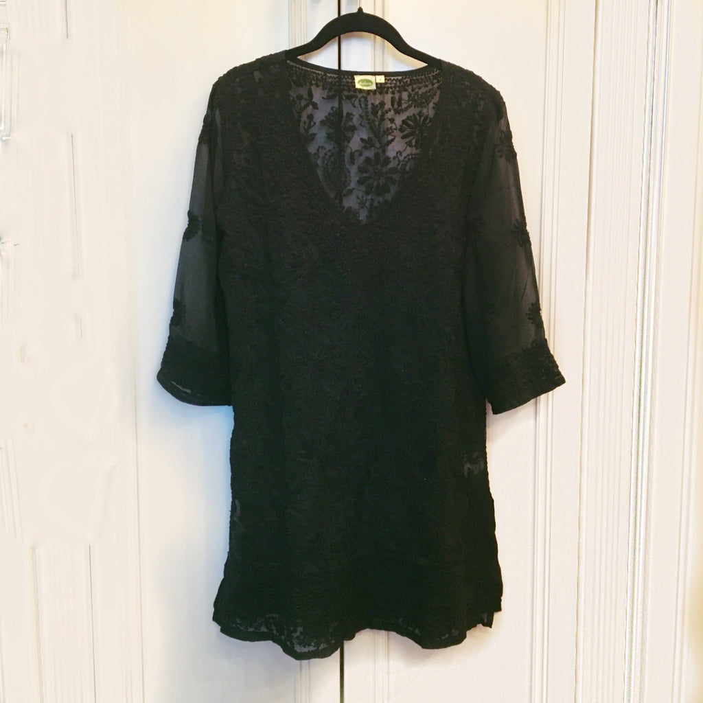 Black Fully Embroidered Tunic