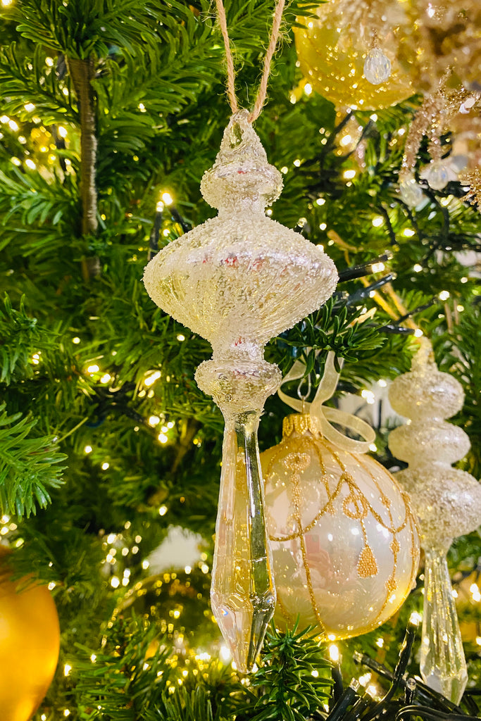 Beaded Crystal Finial Glass Ornaments Lisa Robertson