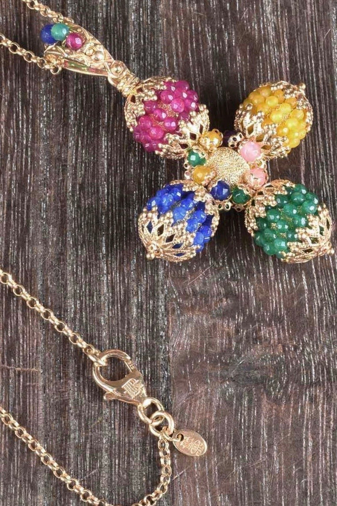 Florentine Colors of Gems Handmade Cross