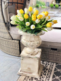 Antiqued Metal Two Piece Grand Planter
