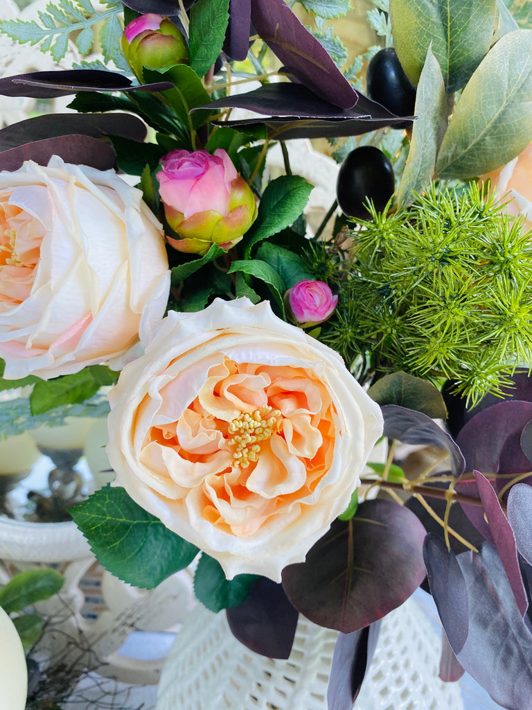 Signature Floral Collection: Plums, Roses, and Peonies Bouquet