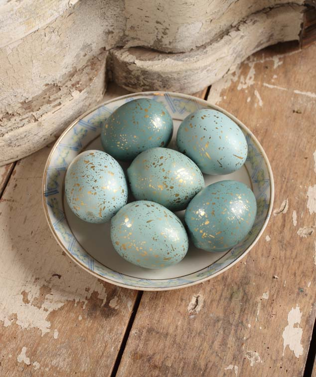 Small Gold Flecked Robins Eggs