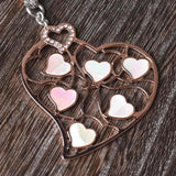 Mother of Pearl Butterfly or Heart Pendant
