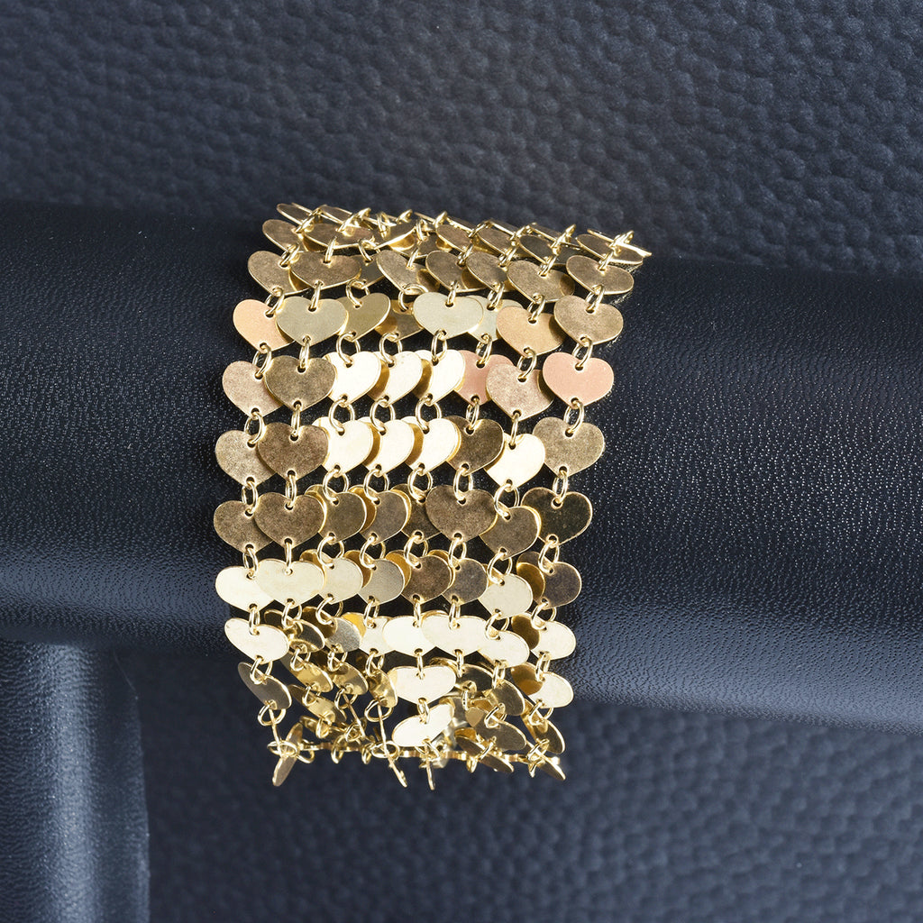 Italian Draped in Light Multi-Strand Bracelet