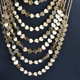 Italian Draped in Light Multi-Strand Necklace
