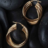 Multi Wave Hoop Earrings
