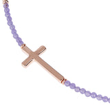 Italian Cross Necklace with Gems