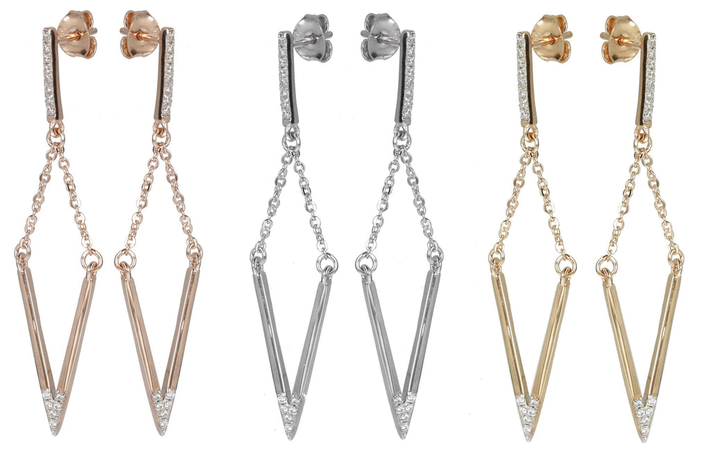The New Shape of Diamonds  Chain Dangle Earrings
