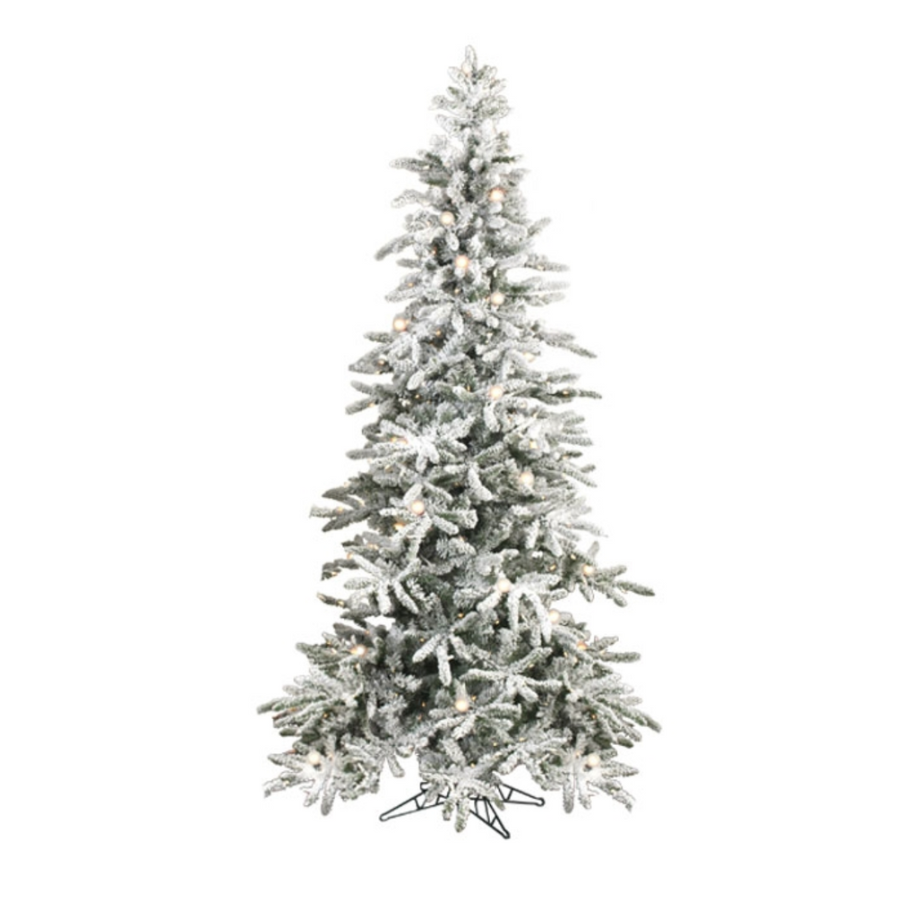 the vintage pre lit christmas tree with traditional and round bulbs - White Pre Lit Christmas Tree