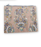 Set of 3 Pastel Paisley Cosmetic Bags