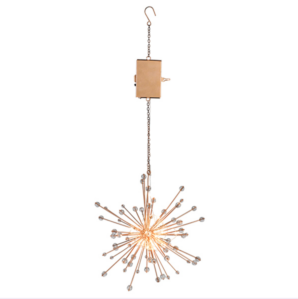 Starburst Lighted Hanging Orb