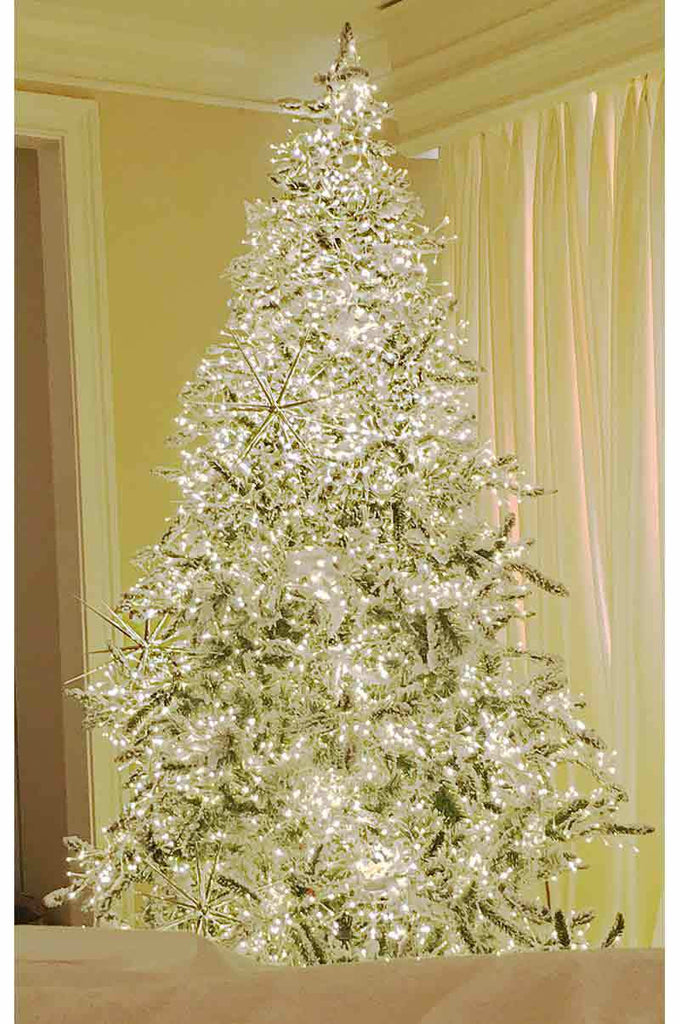the stars in the sky pre lit christmas tree with white - Pre Lighted Christmas Trees
