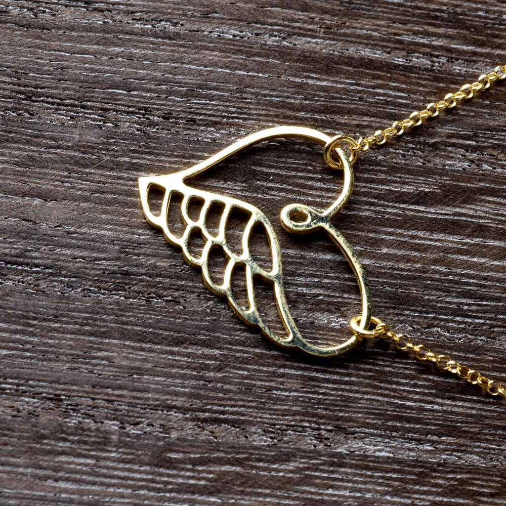The Heart and Angel Wing Necklace