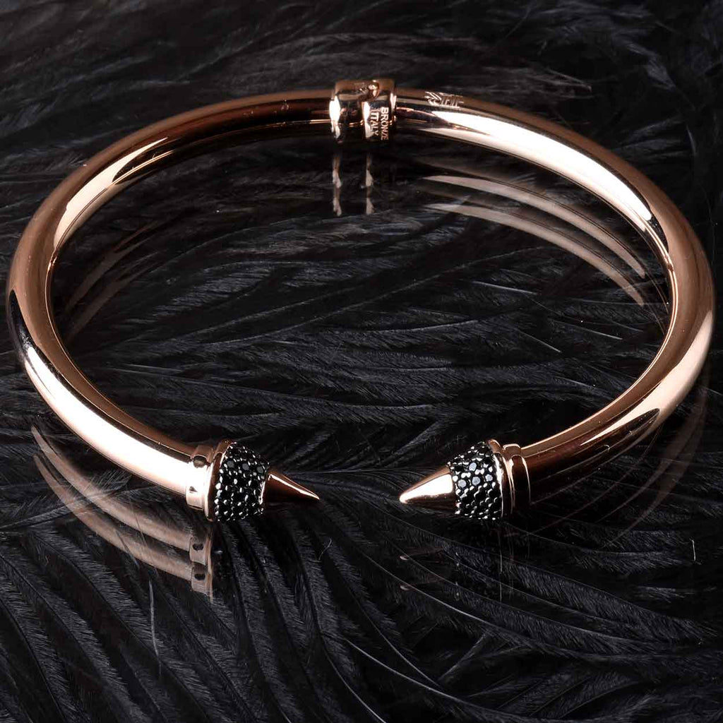 Italian Black Spinel Arrow Cuff
