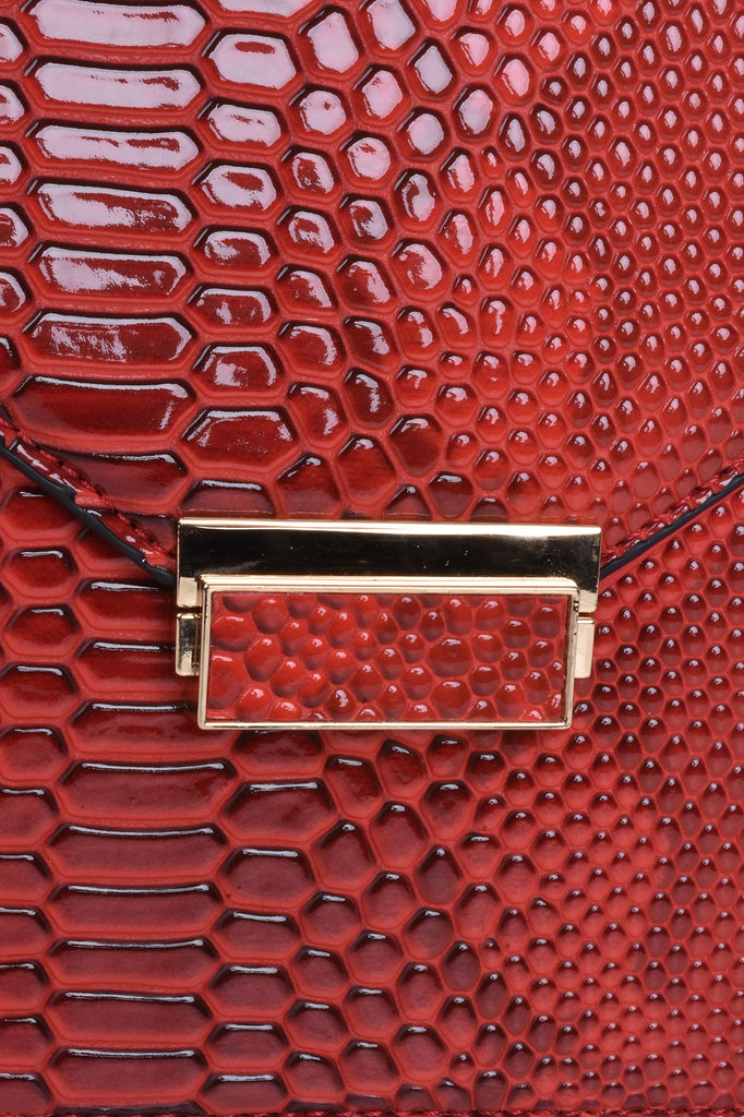 Red Exotic Tailored Bag