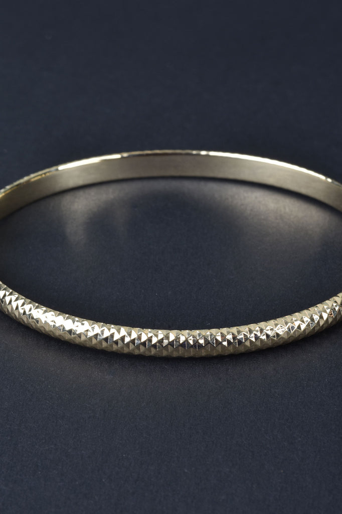 Italian Hand Diamond Cut Bangle Bracelet