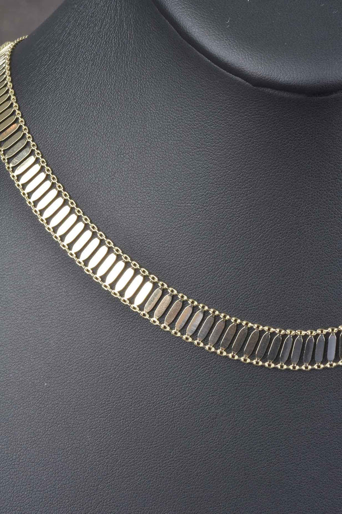 Italian Flowing Bar Necklace