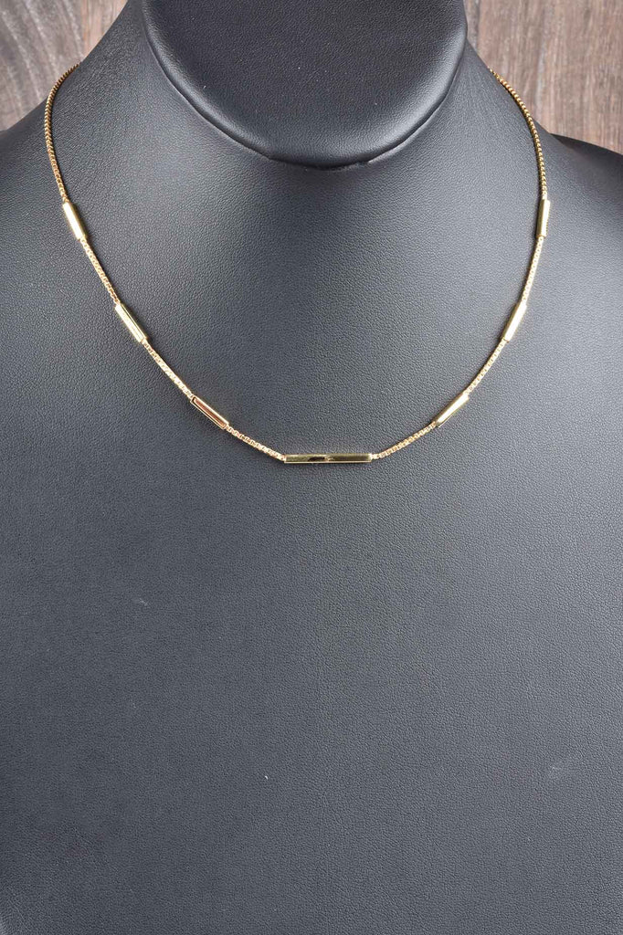 Italian Luxury Bar Station Chain Necklace