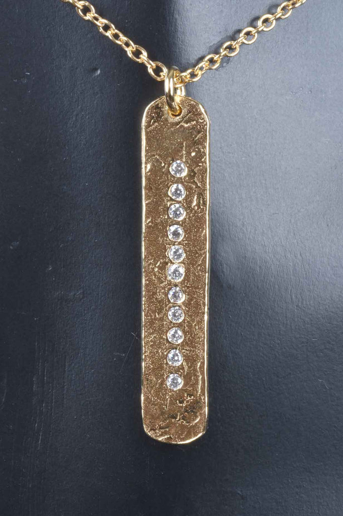 Italian Couture Inspired Vertical Bar Necklace