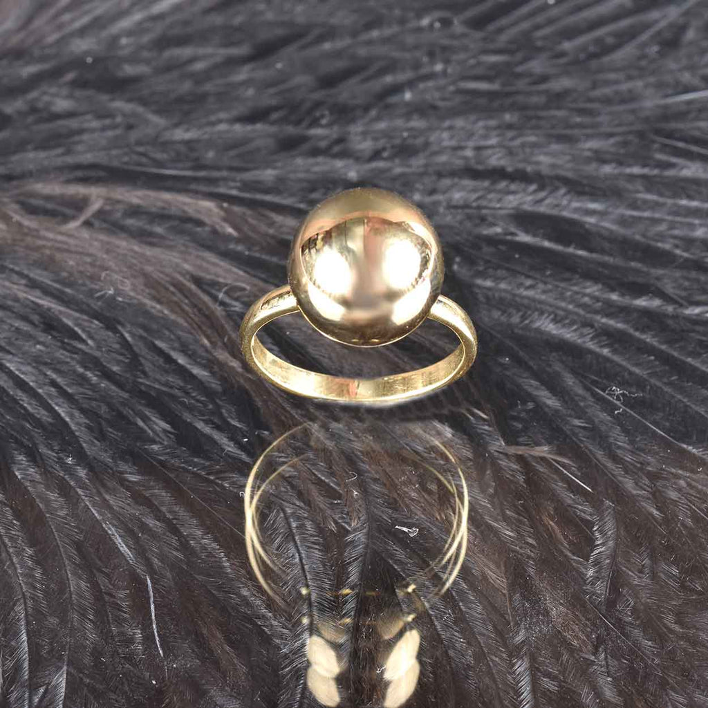 Italian Bold Polished Bead Ring