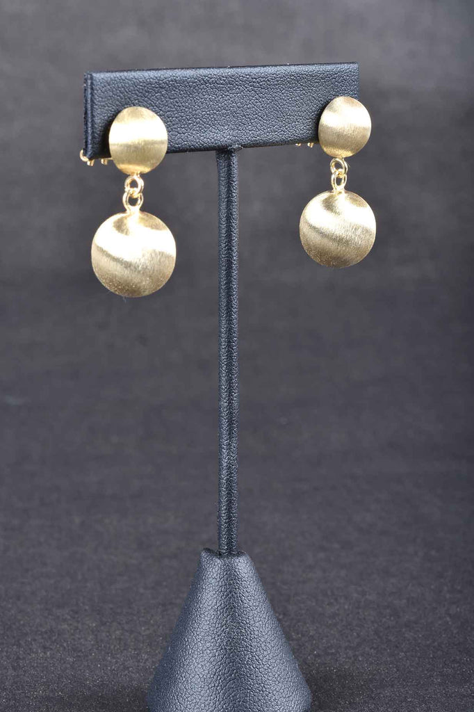 Giante Custom Finish Satin Bead Earrings