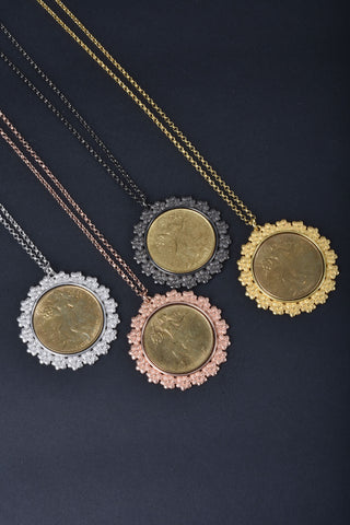 Equestrian Circle Lariat Necklace
