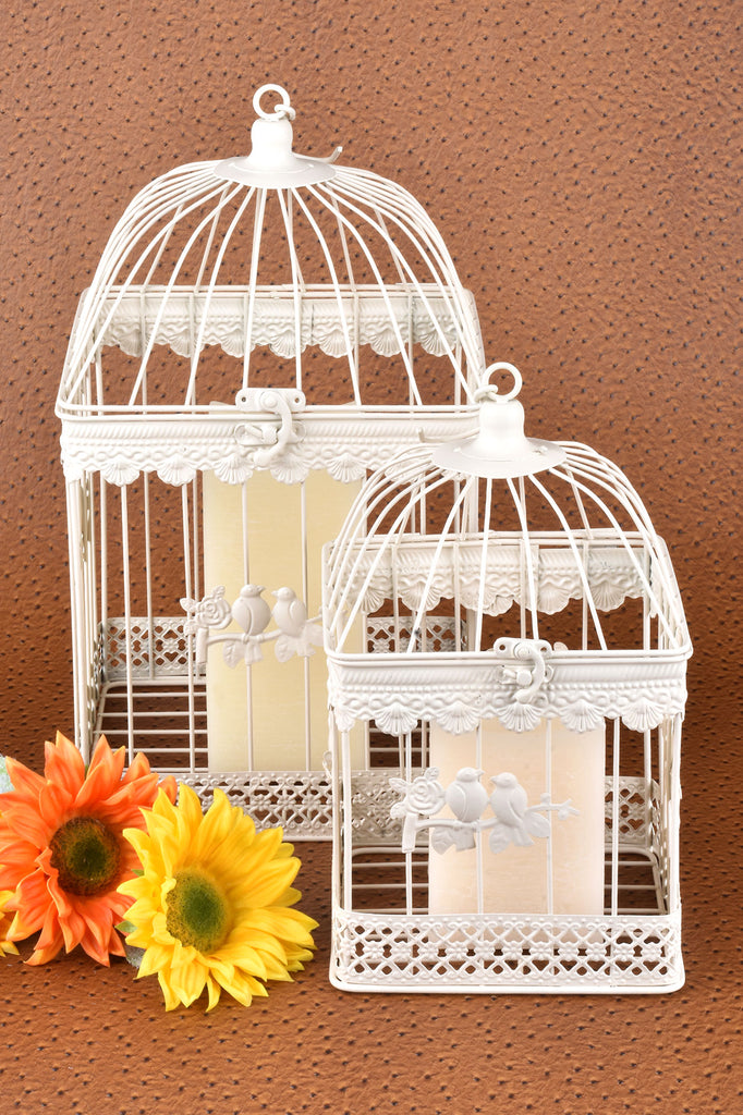 Set of 2 Decorative Bird Cages