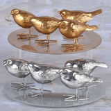 Set of 4 Decorative Birds