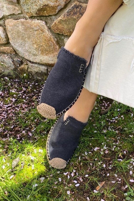 Black Slide Espadrilles
