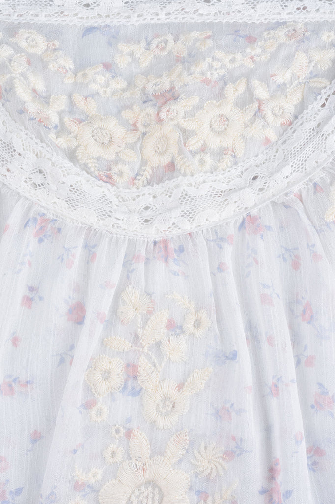 Floral Blouse with Embroidery
