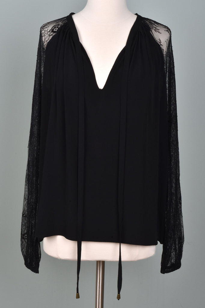 Top with Lace Sleeves