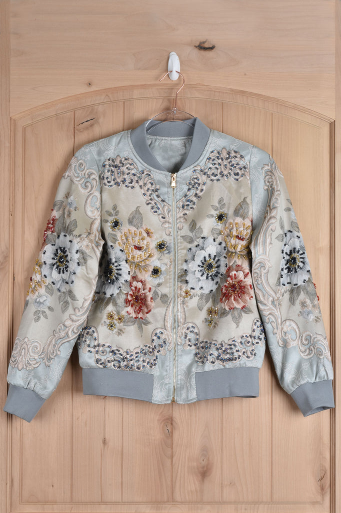 Embellished Bomber Jacket