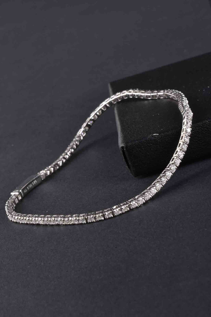 Sterling Diamond Petite Tennis Bracelet